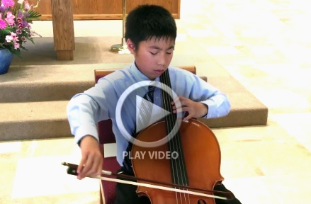 Michael Wu, the second prize winner of Southwestern Youth Music Festival